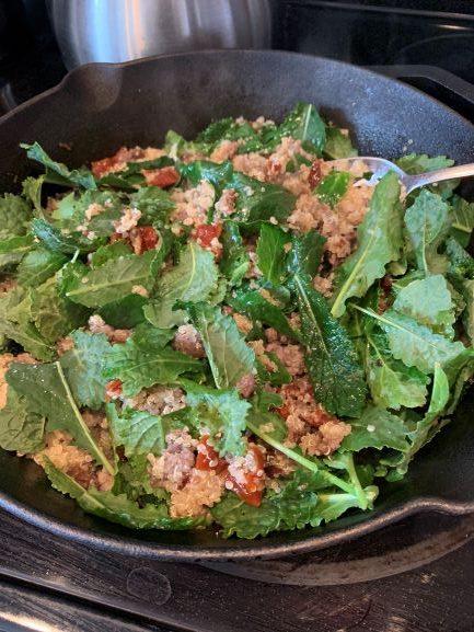 Sausage Kale Quinoa Bowl